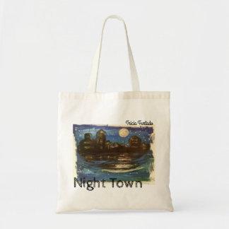 Night town budget tygkasse