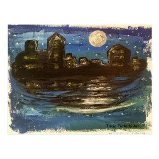 Night town postcard vykort