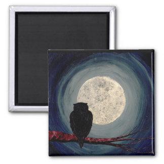 NIGHTLY ~ för FÖLJEN (en uggla- & månedesign) Kylskåpsnagnet