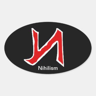 Nihilism Ovalt Klistermärke