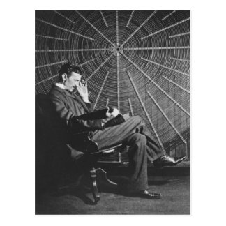 Nikola Tesla, 1896 Vykort