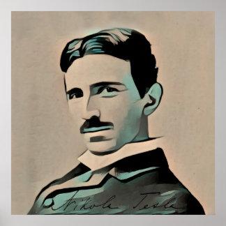 Nikola Tesla affisch