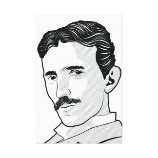 Nikola Tesla ansikte Canvastryck