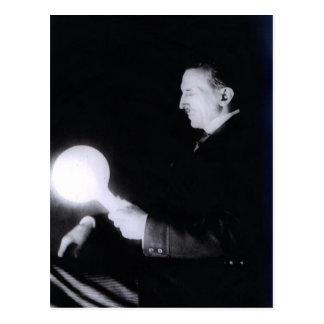 Nikola Tesla circa 1898. Vykort