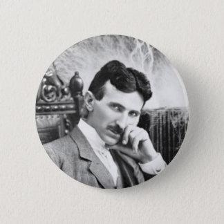 Nikola Tesla klämmer fast Standard Knapp Rund 5.7 Cm