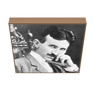 "Nikola Tesla på kanfas 12"" x 12"", Canvastryck"