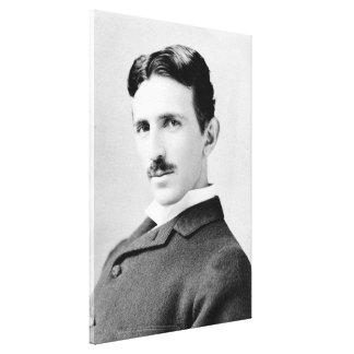 Nikola Tesla porträtt Canvastryck