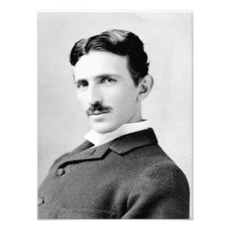 Nikola Tesla porträtt Fototryck