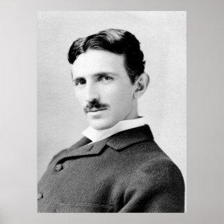 Nikola Tesla porträtt Poster