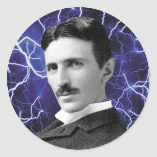 Nikola Tesla Runt Klistermärke