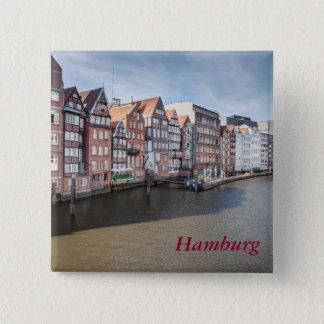 Nikolaifleet Hamburg, Tyskland Standard Kanpp Fyrkantig 5.1 Cm