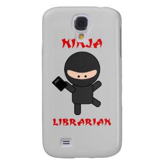 Ninja bibliotekarie med boken galaxy s4 fodral