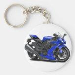 Ninja blåttcykel nyckelring