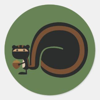 Ninja ekorre runt klistermärke