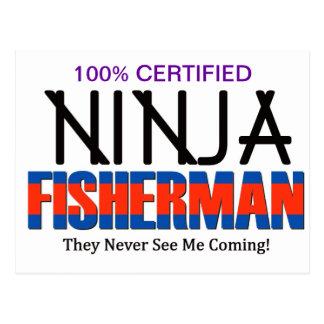 Ninja fiskare vykort