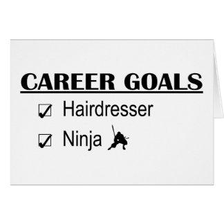 Ninja karriärmål - frisör hälsningskort