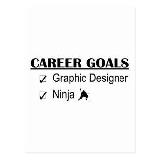 Ninja karriärmål - grafisk formgivare vykort