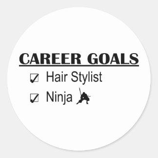 Ninja karriärmål - hårstylist runt klistermärke