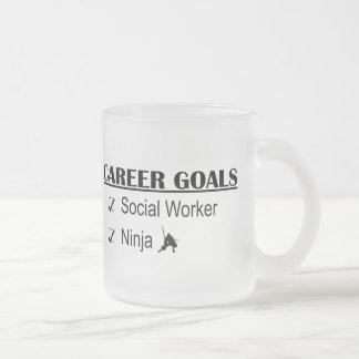 Ninja karriärmål - socialarbetare frostad glasmugg