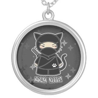Ninja kattunge! Mång- Shuriken Ninjadorables Silverpläterat Halsband