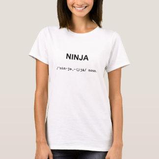 NINJA med kvinna för Phonetic symboler T-tröja Tee Shirts