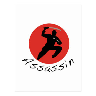 Ninja mördare vykort