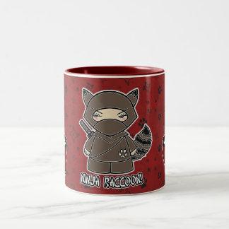 Ninja Raccoon! Med risbunkemuggen Två-Tonad Mugg