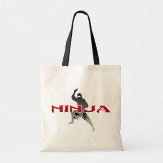 Ninja Silhouette Tygkasse