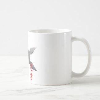 Ninja som kastar stjärnan kaffemugg
