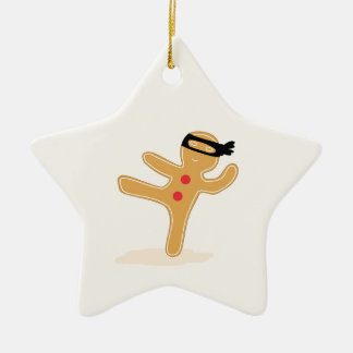 Ninjabread man julgransprydnad keramik