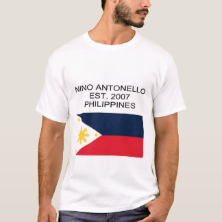 Nino Antonello Est. 2007 Philippines flagga T-shirt