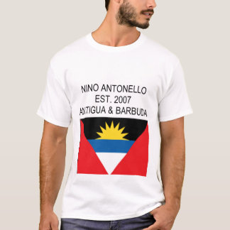 Nino Antonello Est. Antigua &amp 2007; Barbuda T-shirts