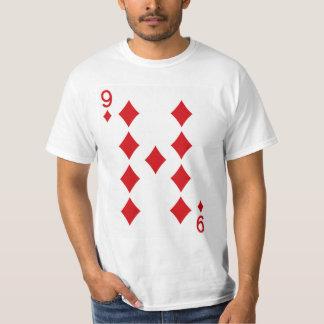 Nio av diamanter som leker kortet tee shirts