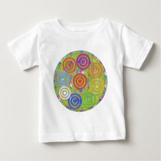 Nio cirklar cirklar within n-ovaler - roliga ungar tee shirts