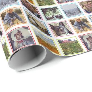 Nio kvadrerar foto i regnbågeramar Instagram Presentpapper