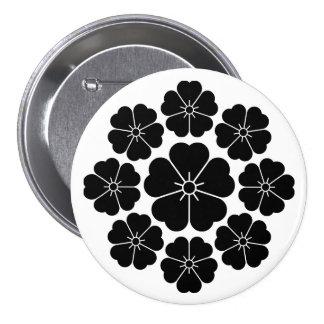 Nio stjärna-stil körsbärblommar mellanstor knapp rund 7.6 cm
