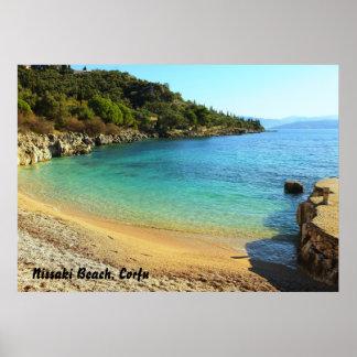 Nissaki strand, Corfu Poster