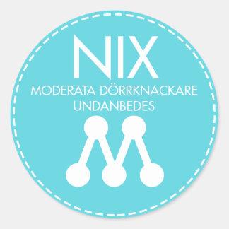 NIX Moderat 6st runda klistermärken