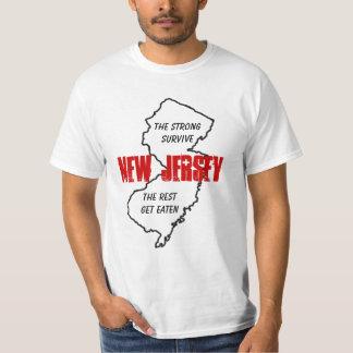 NJ som de starka överlever, vila, får åt Tee Shirts