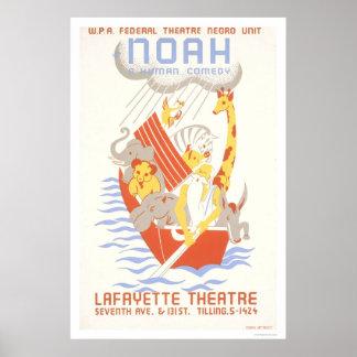 Noah & ark 1938 WPA Poster
