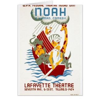 Noah en människakomedi hälsningskort