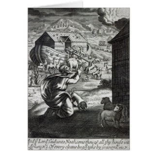 Noah entreth ark hälsningskort
