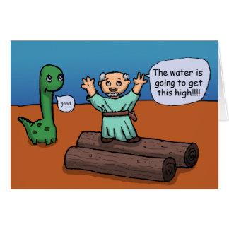 Noah och floden hälsningskort