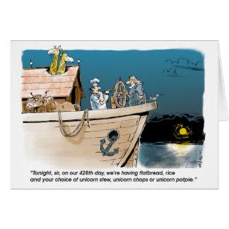 Noah och Unicornsfödelsedagkort Hälsningskort
