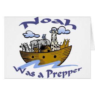 Noah var en Prepper Hälsningskort
