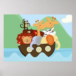 Noahs affisch för barnkammare för arkbaby