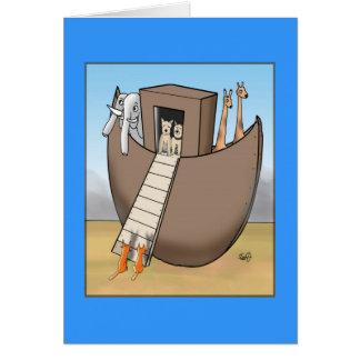 Noahs ark - inga tillåtna katter hälsningskort