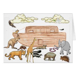 Noahs arkkort hälsningskort