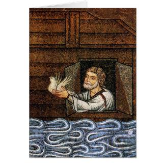 Noahs arkmosaik - Circa 1200 - konstnärokända Hälsningskort