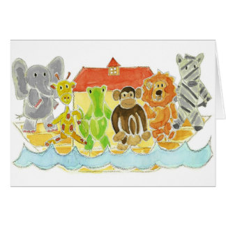 Noahs arknötkreatur hälsningskort